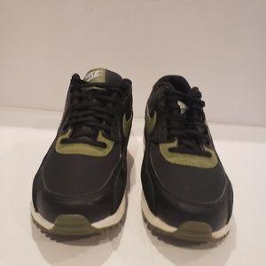 Nike Shoes - Nike Women's Air Max 90 Black/Palm Green-White 325